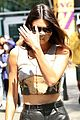 kendall jenner bares midriff leather pants suns lakers game 02