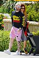 adam levine behati prinsloo colorful outfits for lunch 05