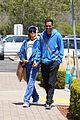 paris hilton carter reum coordinate blue outfits for lunch 03