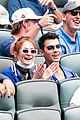 sophie turner goes back to red hair at baseball game 01