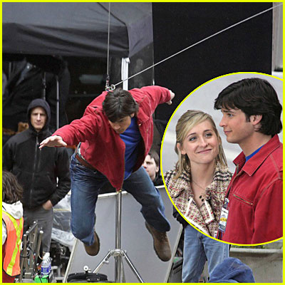 Tom Welling Filming Smallville