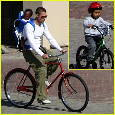 Brad Pitt's Bike Ride