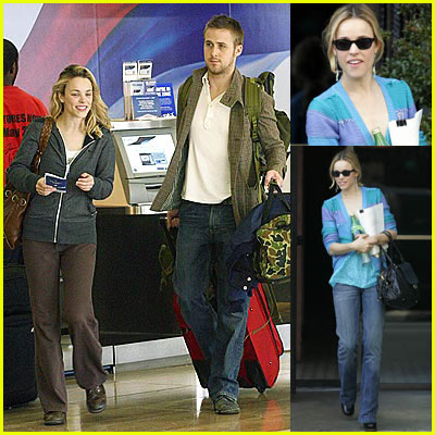 Ryan Gosling and Rachel McAdams At Airport