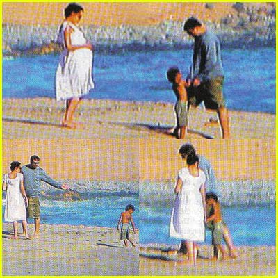 Angelina Jolie Beach Pictures