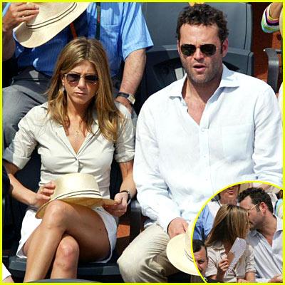 Jennifer Aniston & Vince Vaughn In Paris