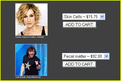 Buy Celebrity Fecal Matter