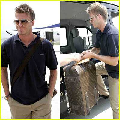 David Beckham at Austria Airport