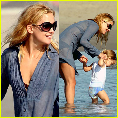 Kate Hudson &amp; Son Ryder Hit The Beach