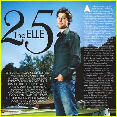 John Krasinski: Elle Magazine