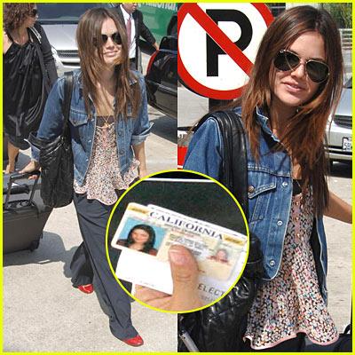 Rachel Bilson Driver's License