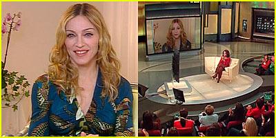 Madonna Opens To Oprah