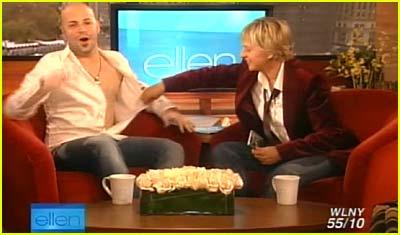 Ellen Rips Off Chris Daughtry's Shirt