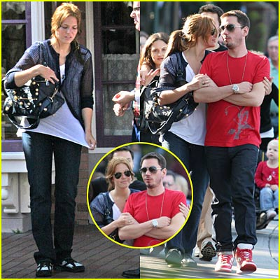Mandy Moore and DJ AM Hold Hands
