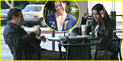 Michelle Rodriguez and the Mystery Male