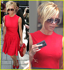 Victoria Beckham Looks Red Hot