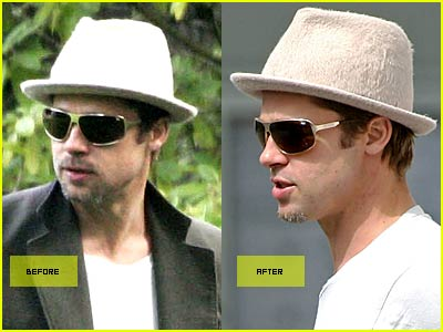 Brad Pitt: Before and After Shave