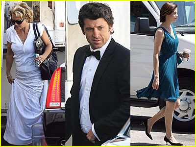 McDreamy @ 'Made of Honor' Movie Set