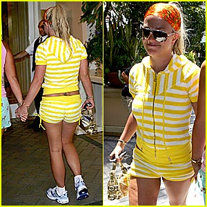 Britney Gone Wild in Yellow and White