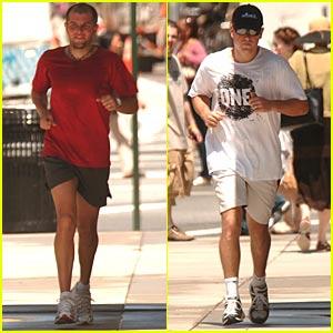 Matt Damon Jogs for ONE