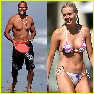 Amaury Nolasco & His New Female Friend