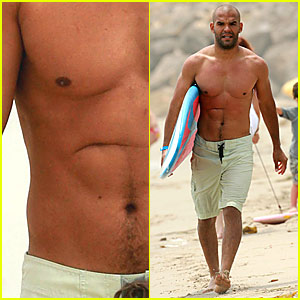 Amaury Nolasco Hits the Malibu Surf