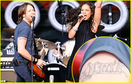 Keith Urban Rocks 'Nicole Kidman Arm Tattoo'