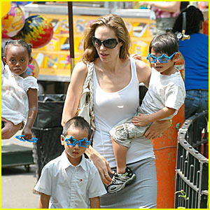 A Carousel Ride with the Jolie-Pitts