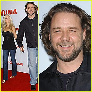 Russell Crowe Catches '3:10 to Yuma' Premiere