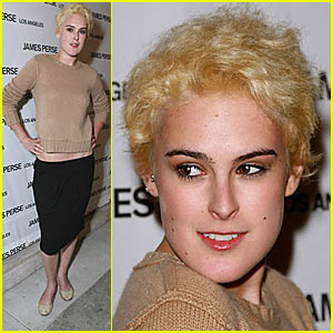 Rumer Willis Has POOFY Blonde Hair