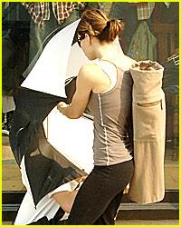 Jessica Biel's Umbrella Attack