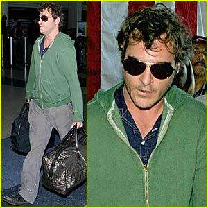 Joaquin Phoenix @ LAX Airport