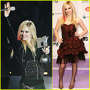 Avril Lavigne @ MTV Europe Music Awards 2007