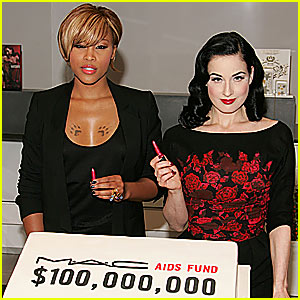 Eve & Dita Von Teese Get Their MAC On