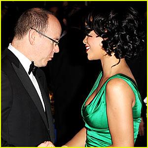 Prince of Monaco Peeps Rihanna