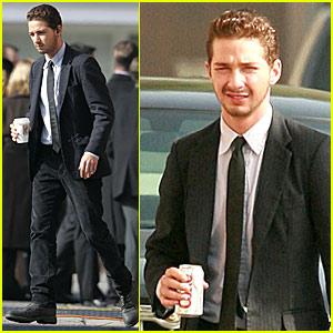 Shia LaBeouf Suits Up