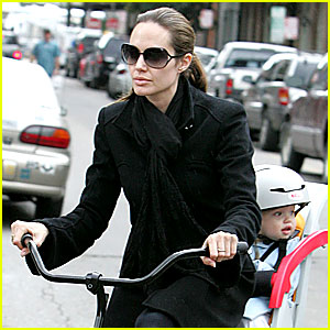 Angelina Jolie: Bicycle Built For Two