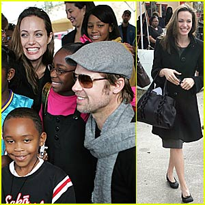 Brad & Angelina Love the Katrina Kids