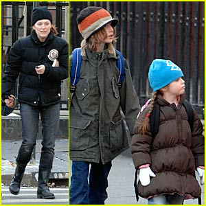 Julianne Moore's Chilly Stroll