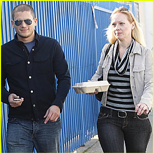 Wentworth Miller Reunites With Amie Bice