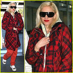 Gwen Stefani Teases in Tartan