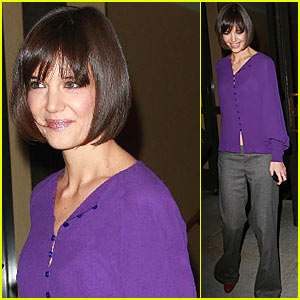 Katie Holmes is Purplelicious