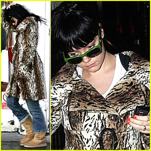 Lily Allen's Bump in the Road