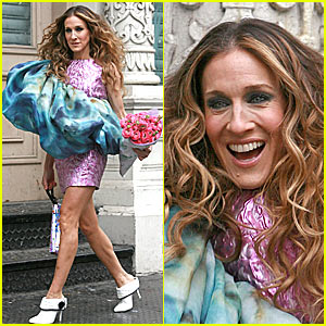 Sarah Jessica Parker Wears a Doughnut