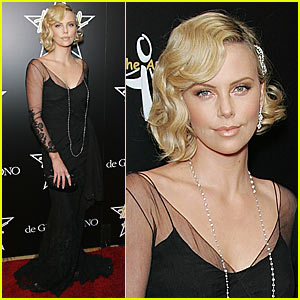 Charlize Theron Enters Domino Tournament