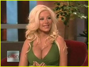 Christina Aguilera @ The Ellen Show
