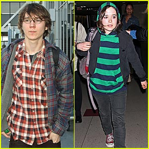 Ellen Page Rushes Through LAX