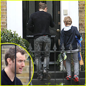 Jude Law Does Daddy Duties