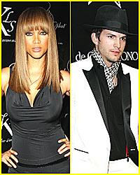 Tyra Banks and Ashton Kutcher are a Tag Team