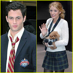 Blake Lively & Penn Badgley Reunite