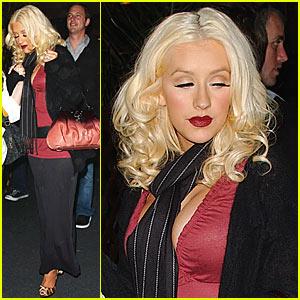 Christina Aguilera's Sushi Stop